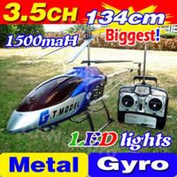Cheap Free Shipping 3.5CH Biggest 53' 134CM Large Big Radio Remote Control Electric Gyro Metal RTF RC Helicopter LED G.T. QS8006 8006