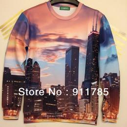 Wholesale 2014 New Fashion Novelty Bldg Building Tiger Designer Pullover 3d Sweatshirt Men Sport 3d Pullover Jacket For Men S Xl 3d Building Designer Deals