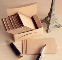 Wholesale Retro Blank Diy Message Noted Card Kraft G Paper Thick Cardboard Corner Brown Paper Word Cards sheet Box sheet