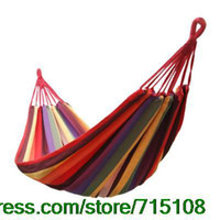 Cheap Thick Outdoors Canvas Hammock Casual Hammock Swings Trip Accessories Children's Amusement Park Swings Home Garden Decor
