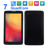 Wholesale 7 inch G tablet PC phone call Quad Core Android Dual Cam MP for Back cam Bluetooth GPS WIFI