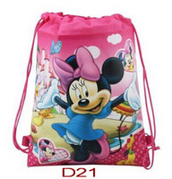 Wholesale New European styles Mickey backpack Minnie drawstring bags handbags children s school bags kids shopping bags pres children Gift