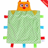 Cheap Wholesale-Hessie Brand Baby Products Soft Fleece Cute Owl Design Baby Summer Blanket Baby Bedding Quilt Play Mat Free Shipping