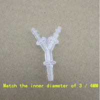 Wholesale Transparent Y tee splitter adapter MM silicone tube MM mains adapter hose pipe fittings