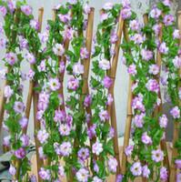 Wholesale Garden Fancing Decorative Rattan White Artificial Flowers Little Plum Blossom Wedding Decor Free Shpping m long