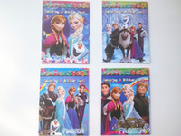 coloring book - Hot sale Frozen Cartoon Coloring Book Drawing Book with Stickers Children Gift piece in stock fast shipping
