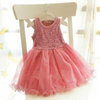 baby girl kids sequin tutu dress sequins tutu dress flower t...