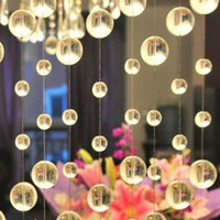 Wholesale 20 Strands Crystal Beaded Curtain Strands Decoration for doorways and room dividers DH205