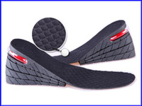 Wholesale 9cm PU Air Cushion Insole Layer Height Increase Shoe Pads Black pairs