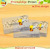 Wholesale customized custom printing special high quality pvc transparent plastic business name card design vip menber wanterproof