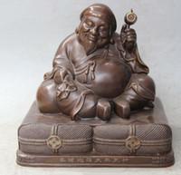 art seat - 8 quot Chinese Tibetan Buddhism Bronze Seat Mahakala Wrathful Deity Buddha Statue
