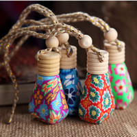 Wholesale Car hang decoration Ceramic essence oil Perfume bottle Hang rope empty bottle