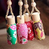 car perfume bottle - Car hang decoration Ceramic essence oil Perfume bottle Hang rope empty bottle DHL