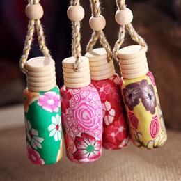Wholesale Car hang decoration Ceramic essence oil Perfume bottle Hang rope empty bottle DHL