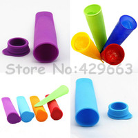 Cheap 100pcs lot Non-sticky silicone ice pop maker silicone ice pop mold Push Up Ice Cream Lolly Pop For Popsicle