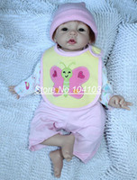 Cheap 22 inches Real baby doll handmade silicone vinyl reborn babies hand-rooted mohair Lifelike classic toys