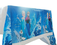 frozen party supplies - free shpping new Frozen Anna Elsa Plastic Tablecloth Tablecover frozen party supplies disposable table cloth