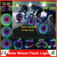 Wholesale Amzing LED Bicycle Bike Programmable Wheel Flash Light Double Side display DIY Designs Patterns Rim Lighting RGB