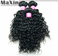 Cheap Virgin Malaysian Hair Extension Human Hair Weft 100g 3 Bundles Kinky Curly Wave Natural Black 1B Unprocessed Waves Waving