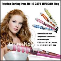 Wholesale New Arrival Hot Tools Curling Iron Hair Wand Electric Ceramic Glaze Coating S Fast Heating Provide Color EU US UK AU Plug