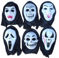 Wholesale Death Halloween Halloween horror props whole person Scream mask grimace mask g plastic