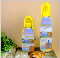 Cheap pet water bottle Pet Travel Bowl Dog Water Feeding Drink Bottle Cat kettle Dispenser Pet Water Bottle 350ml 500ml