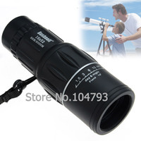 Cheap Wholesale-New 1pc Black Rubber Armoring 16X52 zoomable Monocular Telescopes Camping Hiking Monocular