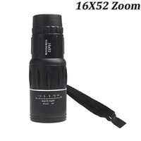 Cheap Wholesale-New Generation 16X52 Zoom Compact Sports Monocular Telescope Spotting Scope for Outdoor Traveling Hiking Camping Black