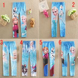 2014 kids autumn Frozen Leggings tights kids frozen clothes Frozen Elsa Anna Children pants trousers 6 colors 6 size