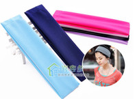 stretch band - New Stretch Headband Sports Yoga hair band Sweat Head Wrap Unisex good Stretch Bandanas moq