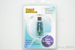 Wholesale USB External Sound card D Audio Adapter for laptop PC NEW accessories