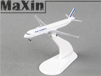 Wholesale Plastic Plane Model Airplane Plane Air France Airbus A320 Diecast Models F GTAC White Color Children Toys Kids Gift