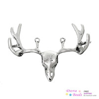 Wholesale Connectors Findings Deer Head Antique Silver cm x cm B33809