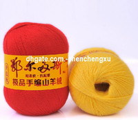 Wholesale Wool cashmere line genuine wool baby hand knitted mink hair weave line
