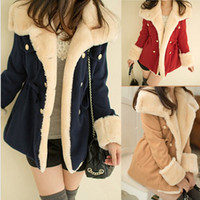 Cheap 2014 new women's winter warm long coat Korean cultivating double breasted wind cotton padded jacket parka for women