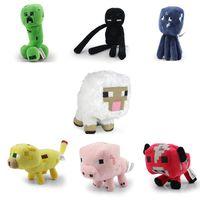 Wholesale 70pcs Minecraft Plush Enderman creeper Mooshroom sheep squid cow pink doll pig quot about cm Pig Piggy Stuffed toys styles