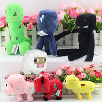 Wholesale 35pcs Minecraft Plush Enderman creeper Mooshroom sheep squid cow pink doll pig quot cm Pig Piggy Stuffed toys styles cheap