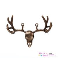 Wholesale Connectors Findings Deer Head Antique Copper cm x cm B33800