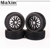 Cheap 4pcs 1:8 Off-Road Tires Set Tyre Wheel Rim For HPI HSP Traxxas RC Car Buggy Cars Vehicles Remote Control Toys Parts Accessories