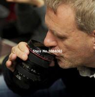 Wholesale Special Present EF mm F L Coffee camera lens mug cup Caniam logo Drop shipping OS000120 B002