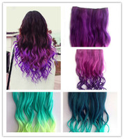 Wholesale Details about Colours quot Full Head Clip in Synthetic Hair Extensions Human Made Hair