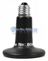 Wholesale New Black W V Ceramic Heat Lamp Bulb Reptile Pet Amphibian Poultry Bulb Pet Heat Light B16 TK0989