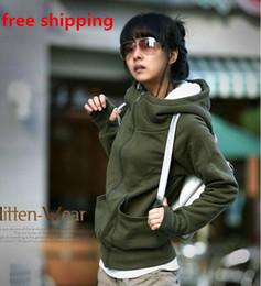 New 2014 Womens Long Sleeve Hoodie Cardigans Coat Women's hoodie Sports Wear Track Hoodie Sweatshirt With Hat #8015