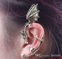 Wholesale Gothic Punk Rock Temptation Metal Dragon Ear Cuff Clip Earrings Game Of Thrones jewelry best gift