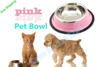 Wholesale Dogs Cat shop pet suppliesPet Dog Cat Fashion Bowl stainless steel bowl pet dogs and cats to use stylish compact bowls shipping