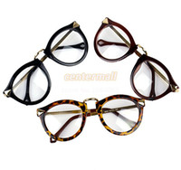 Wholesale 4 Colors New Women Popular Transparent Plain Glass Frame Eyeglasses Colors Dropshipping B003