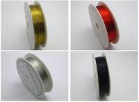 Cheap 4 Rolls Mixed Colour Copper Beading Jewelry Wire 0.3mm