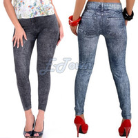 Wholesale 2014 new autumn winter women thin ladies wild snow denim jeans leggings pencil pants nine leggings SV07 SV004648