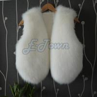 Wholesale 2014 New imitation rabbit fur vest coat high quality faux fox fur woman solid color fashion waistcoat White Black SV005860