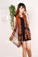 hmong - 2014 New designer hmong scarves Fashion Women Scarves Long Voile Tribal Aztec Scarf Swap Shawl Muslim Hijab monroe colors
